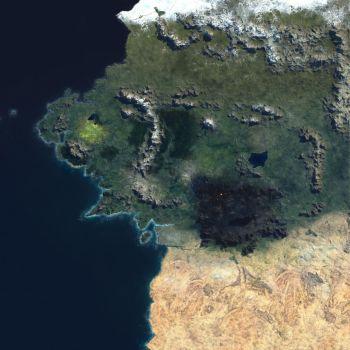 Middle Earth Satellite photo by Hakestake