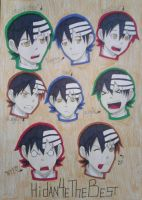 Death the Kid 8 Expressions by Hidan4eTheBest