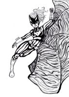 Batwoman sketch by Comix-Chick