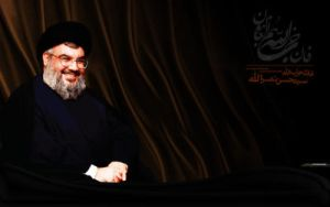 leader of hizbullah by shiawallpapers