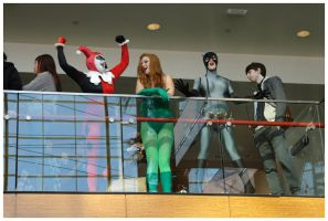 Youmacon 2011: Harley, Ivy and Catwoman by LadyEmrys