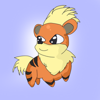 Growlithe by TempestWaterdragon