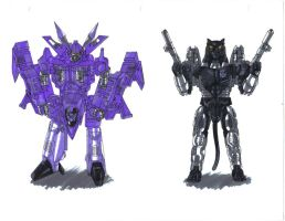 Cyclonus And Ravage by Jochimus
