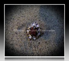 'Desert rose' handmade silver ring by seralune
