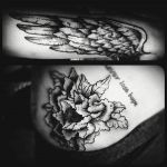 Tattoo -flower, wing by ccarringtonn