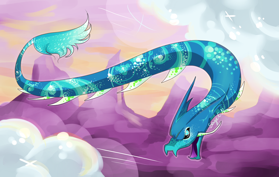 Flying serpent by SageCamille