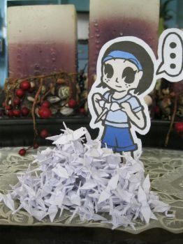 Paperchild and the 1000 Cranes by DragonFold