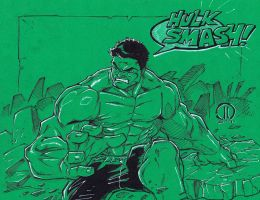 Hulk SMASH Color paper by JoeyVazquez