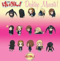 K-ON Desktop Mascots by Mazz66 by k-onlovers