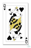 Queen of Hearts Card by smallvillereject