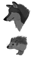 Hedgehog:Wolf Comparision by SiscoCentral1915