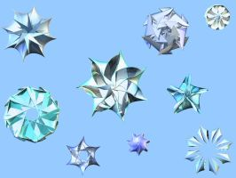 3d Snowflakes by kingnilo
