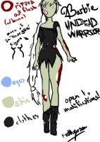 Barbie: Undead Warrior Design by realAniram