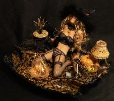 OOAK Halloween Trick Or Treat Witch Mixed Media 2 by GeorgeCalado