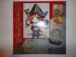 Pirate anime girl 8 x 8 scrapbook page by butterflypromqueen