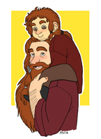 Gloin and young Gimli by Kriegswaffle