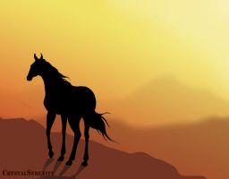 Equine Silhouette by CrystalSerenity