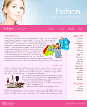 Layout: Fashion Icon _Pink by sunlessdesign