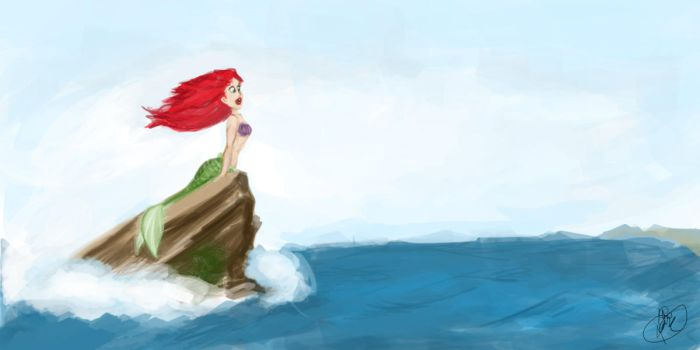 Little Mermaid Speed Painting by pirate-LD