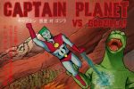 Captain Planet vs. Godzilla by ClearSkySuite