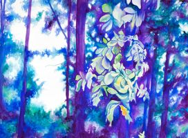 Tree watercolor 2 by corelila