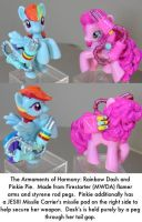 Armaments of Harmony Dash and Pinkie by dvandom