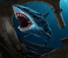 Armored shark by DanielClasquin