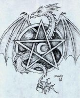pentacle dragon 2 by DarkZoneRomana