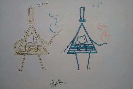 Will and Bill Cipher! by Wolfols-4-Waffles