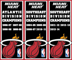 Miami Heat Division Championships by FJOJR