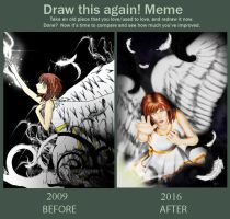 Angel Redraw Comparison by Rizuii