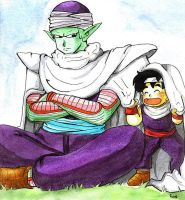 pikoro and gohan by camlost