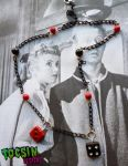 PIN UP ROCKABILLY LUCKY 7 DICES NECKLACE by TocsinDesigns