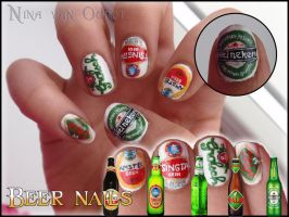 Beer nails by Ninails