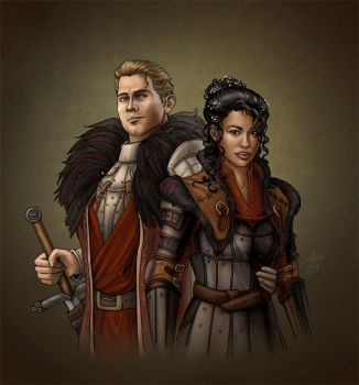 Cullen and Inquisitor by AlenaLane