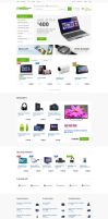 Media Center - Electronics eCommerce PSD by bcubepl