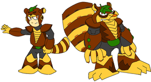 Raccoon Man and Transform Raccoon by Greasiggy
