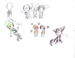 Sketchdump 2. ( Creepypasta ) by SparkyChan23