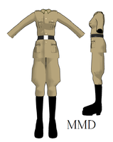 MMD- Fem. Hetalia Uniform- DL by MMDFakewings18