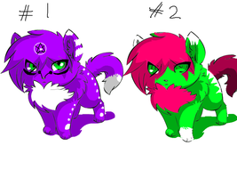 2 Cute adopts by Bexgirl2803
