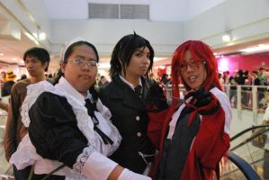 Me, Sebastian and Grell by MissNellie