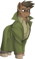 For Smusher - Ponified Detective Gumshoe by marikazemus34