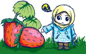 with strawberries by cahaya-pemimpin