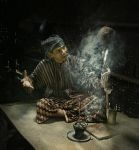 ada mbah dukun....... by anggalanell