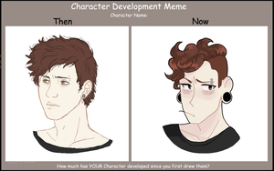 Character Dev. Meme: August by MadameSusu