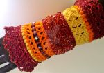 Crochet Cuff Bracelet by Judescreations