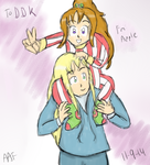 :FFIV: Kain and Porom :GA: by nintendohime