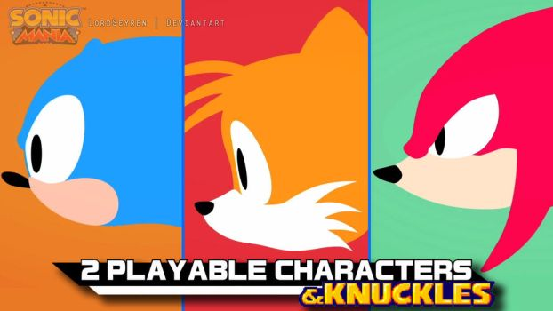 Sonic Mania and Knuckles by LordSeyren