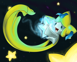 Jirachi and the Blue Star by HorrorDance