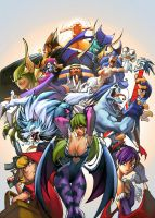 Darkstalkers pinup by TeoGonzalezColors